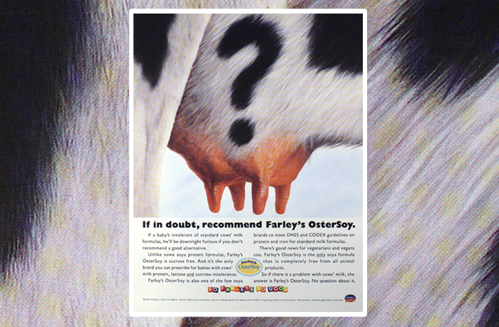 Farley's Ostersoy advertisement