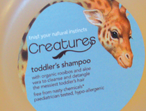 'Creatures' bathtime skin care products